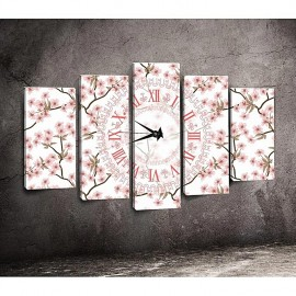 Tableaux avec horloge - 5 pièces