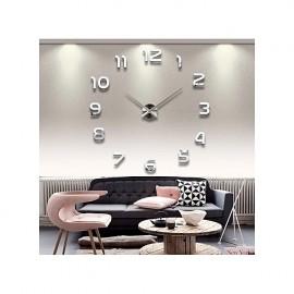 Nouvelle Horloge Montre Mur Horloges Horloge 3d Diy Acrylique Miroir Autocollants Décoration de La Maison Salon Quartz Aiguille