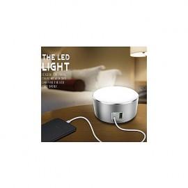 LDNIO A2208 LED Power Touch Lamp 2 Chargeur USB intelligent pour téléphone portable