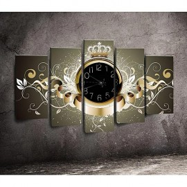 Horloge de table en toile - 5 pièces
