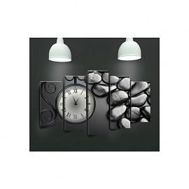 Tableau avec horloge - 5 pièces