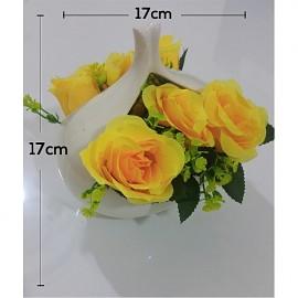 Japon Style Solide Vase YELLOW Flower Vaser Rétro Décoration V3 D-02