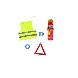 Pack de sécurité voiture -Triangle d'en panne /Gilet fluorescent /Extincteur 500 ml