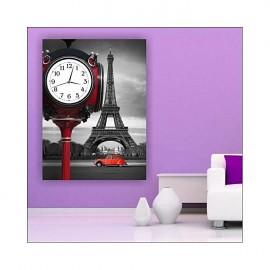 Tableau de loisirs avec horloge - 60x40 cm