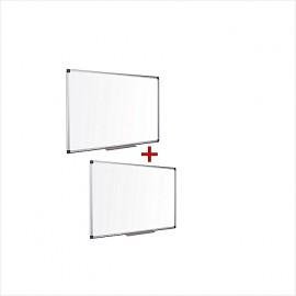 Pack De 2 Tableaux Magnetiques Blancs 120 cm x 90 cm