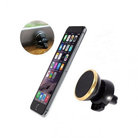 Magnetic Car Air Vent for Mobile Devices BLACK with GOLD