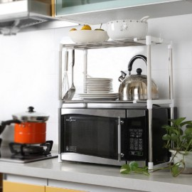Multifunctional Microwave Oven Stainless Steel Shelf Storage