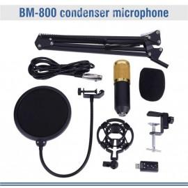 BM800 Studio condensateur Microphone bras support