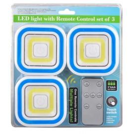 LED LIGHT REMOTE CONTROL SET OF 3