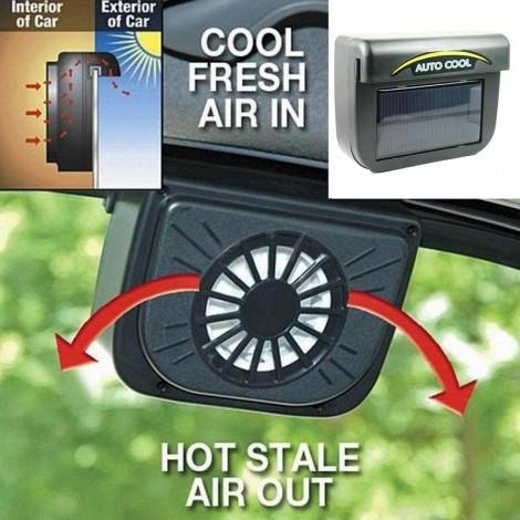 Ventilateur à énergie solaire pour vitres de voiture