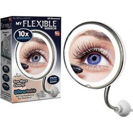 Miroir lumineux flexible rond , loupe