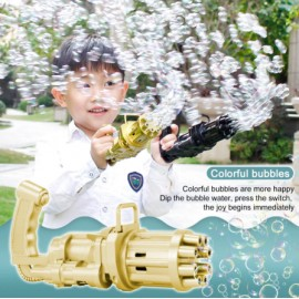 Pistolet a bulles de savon automatique Gatling