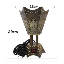 Electric Bakhoor Burner Electric Incense Burner - (Moyen Hexagon Bronze)